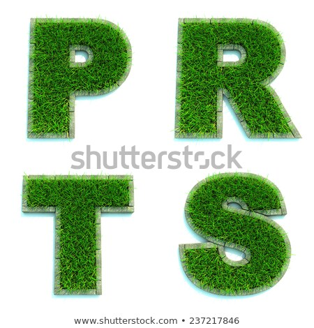 Stock photo: Letters P, R, T, S as Lawn - Set of 3d.