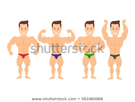 young muscle man chest and abdominals Stock photo © Giulio_Fornasar