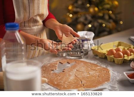 huisvrouw · melk · cookies · foto · mooie · vrouw - stockfoto © hasloo