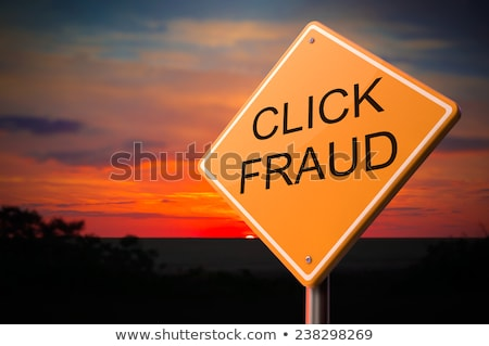 Click Fraud on Warning Road Sign Stock photo © tashatuvango