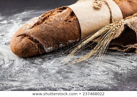 Marcar orejas trigo oscuro alimentos desayuno Foto stock © OleksandrO