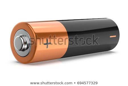 AA Battery over white Stock photo © lucielang