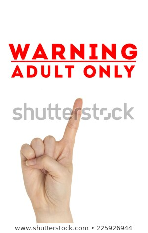 Open hand raised Adults Only sign painted Stock photo © ozaiachin