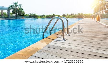 Piscine détails turquoise eau tuiles Photo stock © rafalstachura