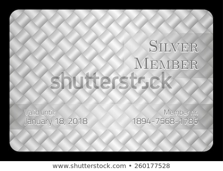 Silver member card with diagonal crossing bar template Stock photo © liliwhite