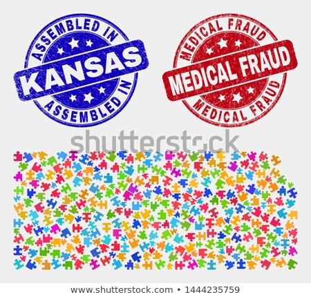 Fraud - Text on Red Puzzles. Stock photo © tashatuvango
