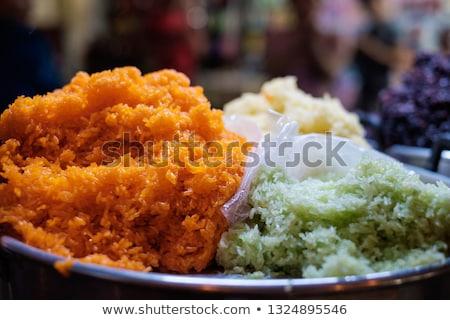népszerű · kínai · utcai · étel · tészta · utca · tányér - stock fotó © xuanhuongho