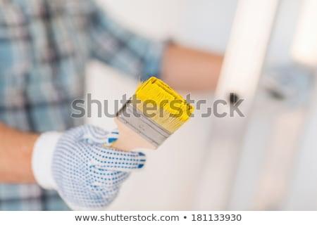 kukla · sanatçı · turuncu · kukla · beyaz · üzücü - stok fotoğraf © compuinfoto