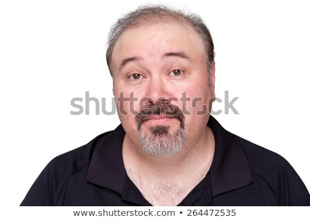 Skeptical middle-aged man raising his eyebrows Stock photo © ozgur