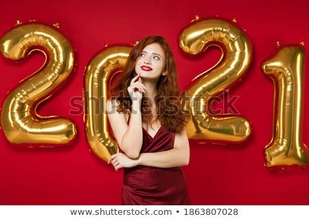 vörös · hajú · nő · női · gondolkodik · fotó · gyönyörű · arc - stock fotó © wavebreak_media