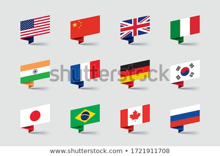 Bandeira etiqueta Canadá isolado branco assinar Foto stock © MikhailMishchenko