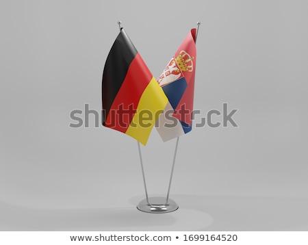 Niemcy Serbia flagi puzzle odizolowany biały Zdjęcia stock © Istanbul2009