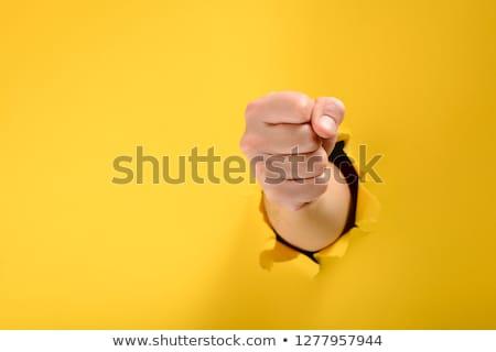Fist broke paper Stock photo © fuzzbones0