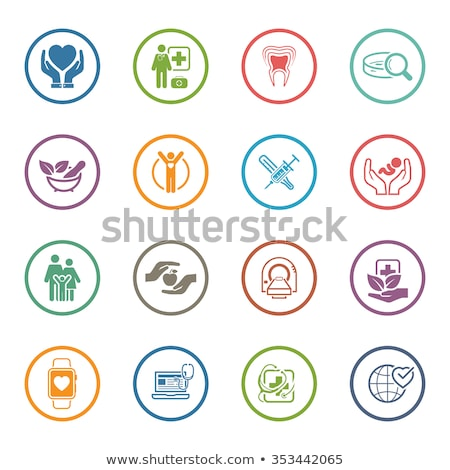 pediatrics and medical services icon flat design stock photo © wad