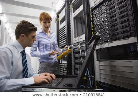 チーム デジタル ケーブル サーバー データセンター ストックフォト © wavebreak_media