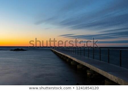 bath pier at twilight stock photo © olandsfokus