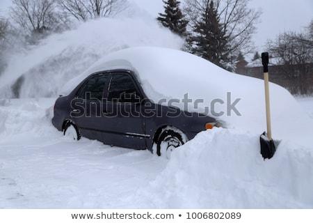 Auto foto auto strada inverno tempesta Foto d'archivio © Nneirda