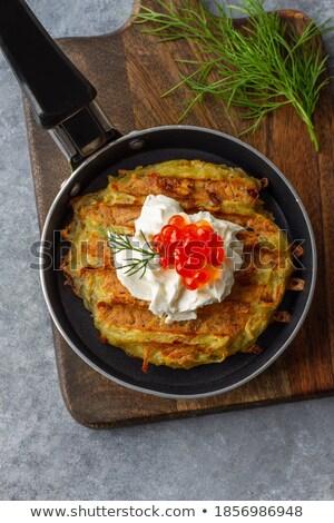 pancakes with caviar stock photo © ozaiachin