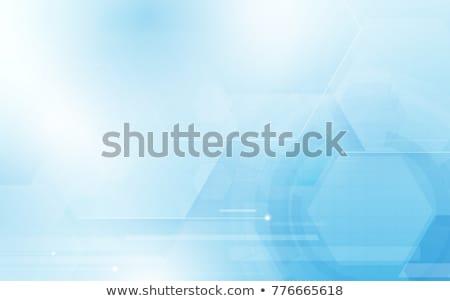 brilhante · azul · tecnologia · geométrico · vetor - foto stock © saicle