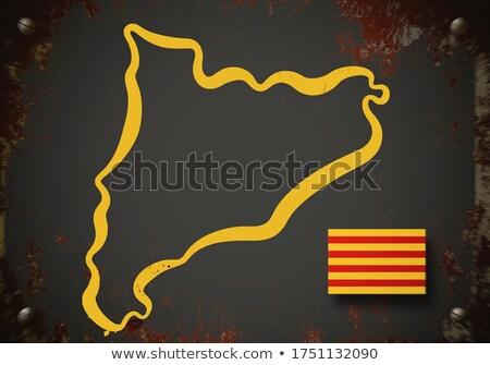 3D · mapa · bandeira · cores · tornar · gráfico - foto stock © georgejmclittle