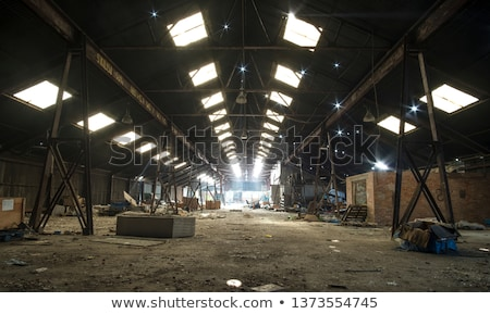 skylight abandoned factory stock photo © sirylok