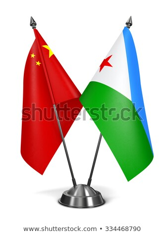 china and djibouti   miniature flags stock photo © tashatuvango