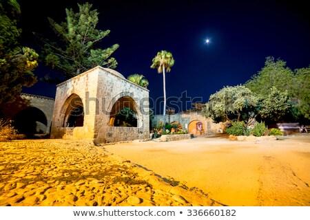 Kolostor éjszaka kerület Ciprus fény kő Stock fotó © Kirill_M