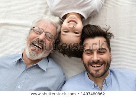 Három gyerekek felső kilátás család lány Stock fotó © Paha_L