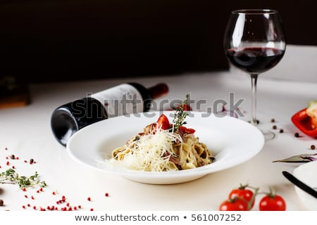 pasta and wine stock photo © cosma