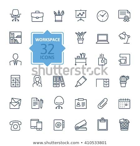 azul · vetor · ícone · ginecologia · cadeira · círculo - foto stock © rastudio