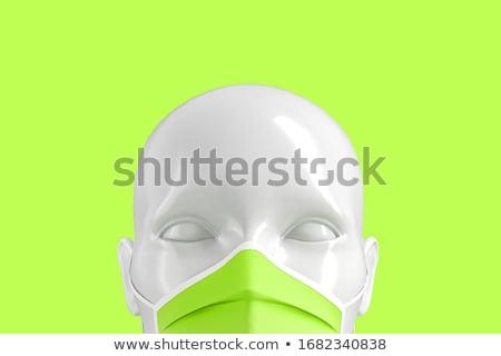 medische · groene · wazig · tekst · pillen · spuit - stockfoto © tashatuvango