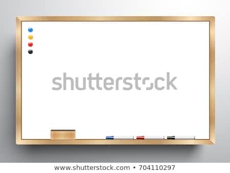 Magnético isolado branco moldura de madeira madeira Foto stock © simpson33