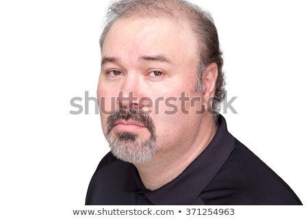 Downcast middle aged male over white background Stock photo © ozgur