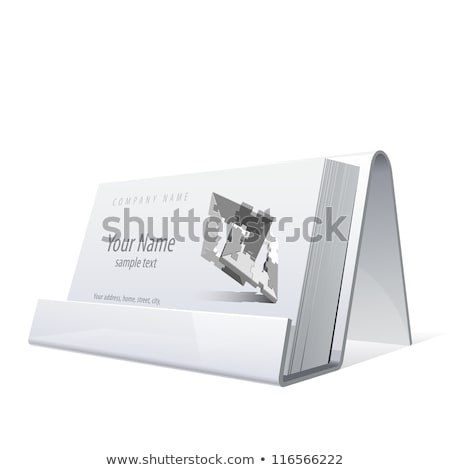 Blank business card in holder on white Stock photo © franky242