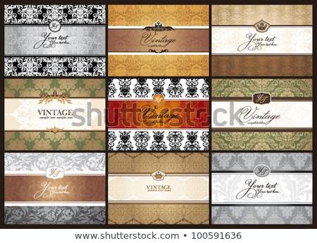 Mooie gift card eps vector bestand business Stockfoto © beholdereye