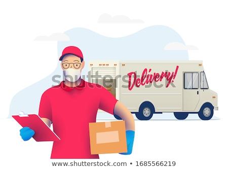 camion · consegna · illustrazione · libero · pacchetto · spedizione - foto d'archivio © adrenalina