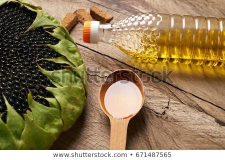 Stockfoto: Zonnebloem · zaad · olie · groenten · voorbereiding · salade