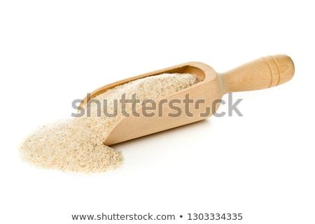 Psyllium seeds on wooden spoon Stock photo © joannawnuk