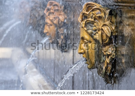 Golden Gargoyle Fountain Stock photo © searagen
