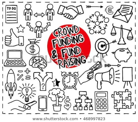 Crowd funding doodle set Stock photo © pakete