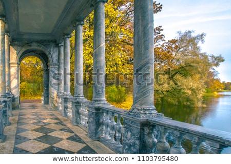 осень парка воды природы деревья моста Сток-фото © SergeyAndreevich