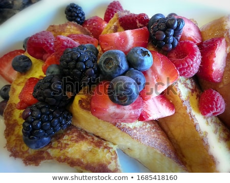 french toast and berry stock photo © m-studio