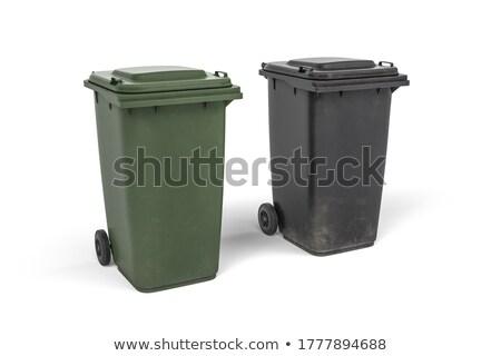 два мусорное ведро 3d визуализации изолированный белый мусор Сток-фото © mariephoto