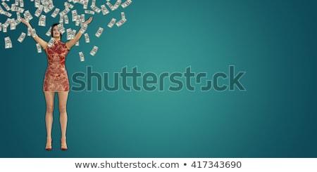 pénz · zuhan · égbolt · ausztrál · ötven · dollár · bankjegyek - stock fotó © kentoh