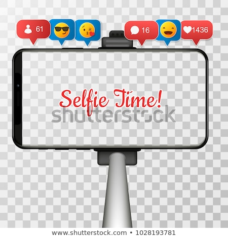 Selfie stick and mobile phone Stock photo © bluering