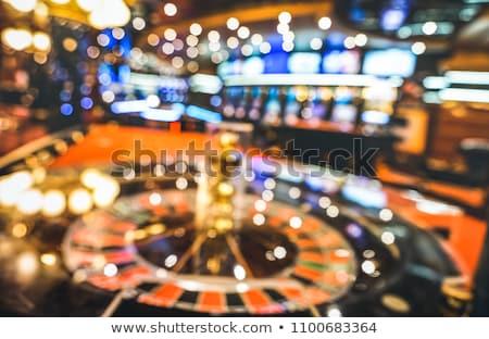 Abstrato jogos de azar cidade roleta cartas de jogar moedas de ouro Foto stock © day908
