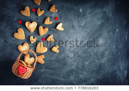 valentine · kek · örnek · şerit · plaka · tatlı - stok fotoğraf © m-studio