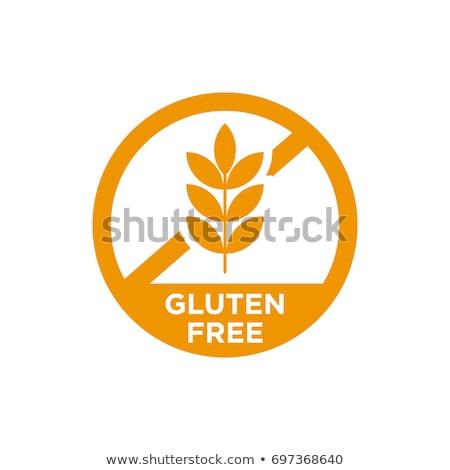 Sem glúten assinar dieta verde vermelho Foto stock © Tefi
