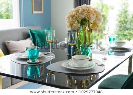 Elegante articoli per la tavola ristorante tavola lastre Foto d'archivio © wdnetstudio