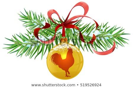 Verde ramo Natale palla Foto d'archivio © orensila